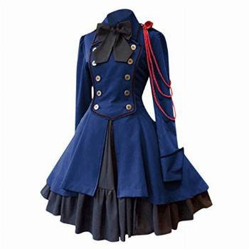 Forthery-Women Lolita Gothic Dress Vintage Cross Embroidery