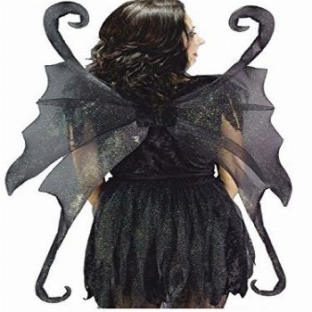Summitfashions Large Black Fairy Wings Gothic Fairy Theatre