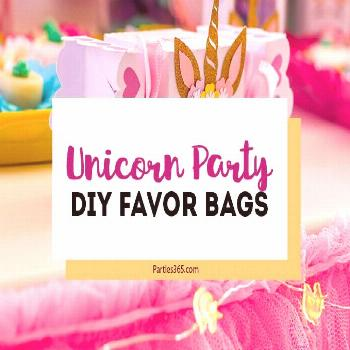Throwing a unicorn party and want a cute idea for a DIY favor bag? This free printable template for