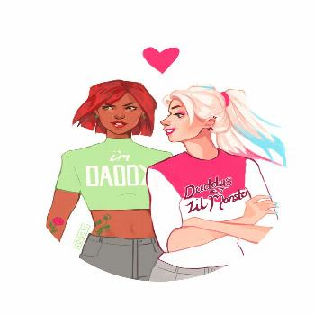 """zoinkysdraws: """" this is the only explanation for harley's terrible shirt """""""